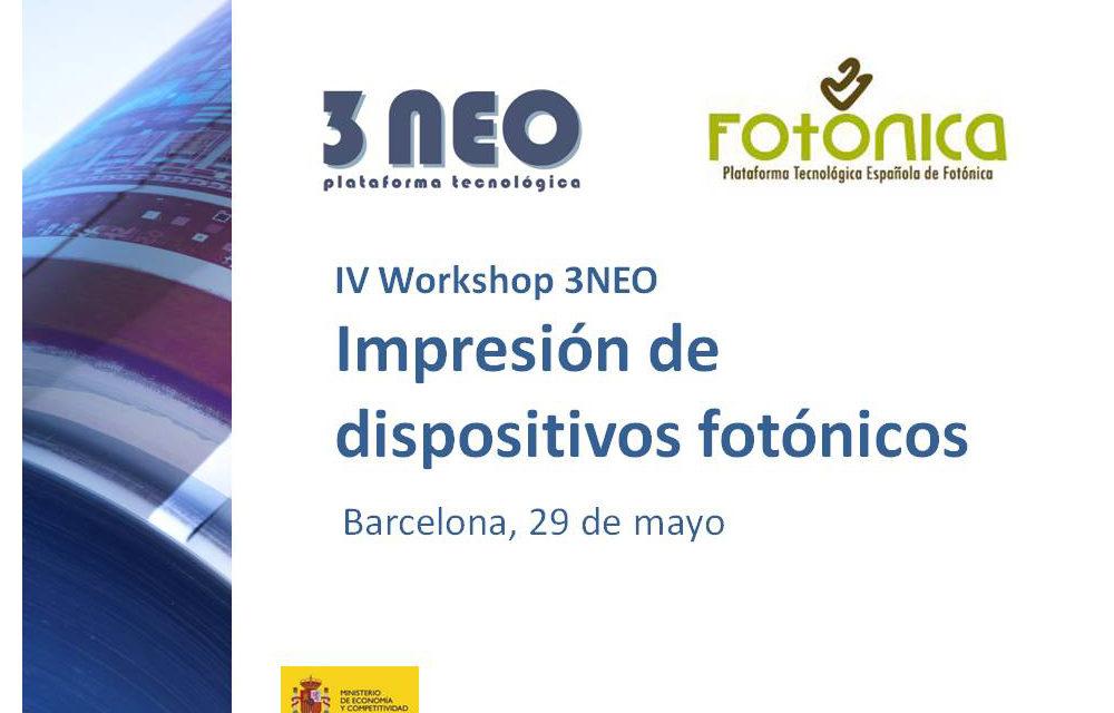 Fotónica21 participa en el IV Workshop de la Plataforma 3NEO 'Impresión de dispositivos fotónicos'