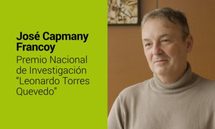 José Capmany: Premio Nacional de Investigación Leonardo Torres Quevedo en el área de Ingenierías
