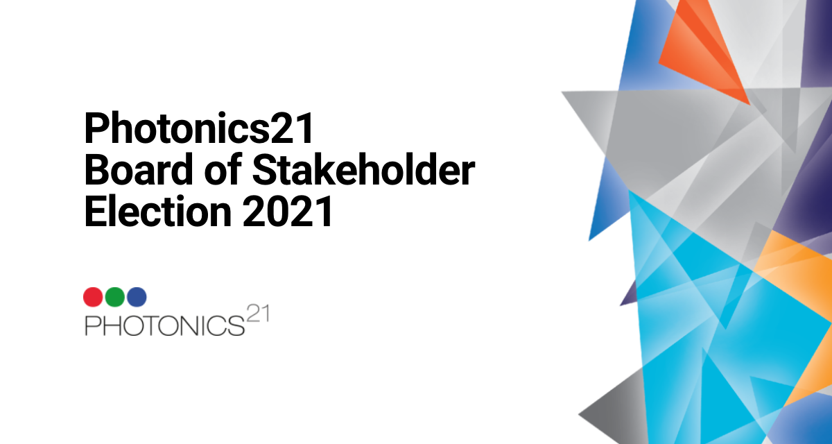 Photonics21 Board of Stakeholder Election 2021