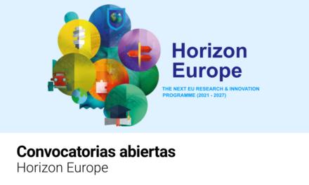 Horizon Europe: primeras convocatorias abiertas