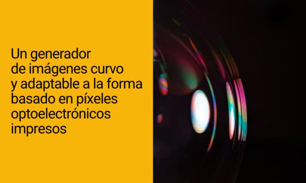 Un generador de imágenes curvo y adaptable a la forma basado en píxeles optoelectrónicos impresos