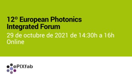 12º European Photonics Integrated Forum