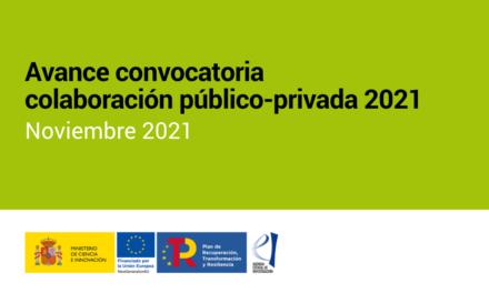 Avance – Convocatoria colaboración público-privada 2021